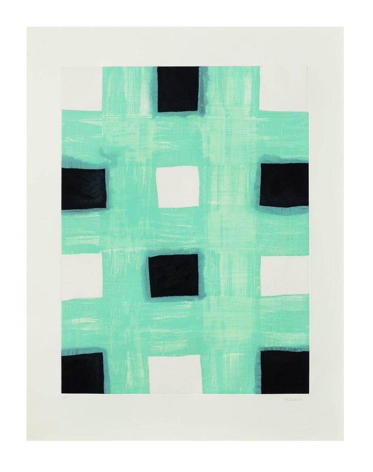 Mary Heilmann Mint Print, 1998 Etching 38 x 29 1/2 inches Edition of 40