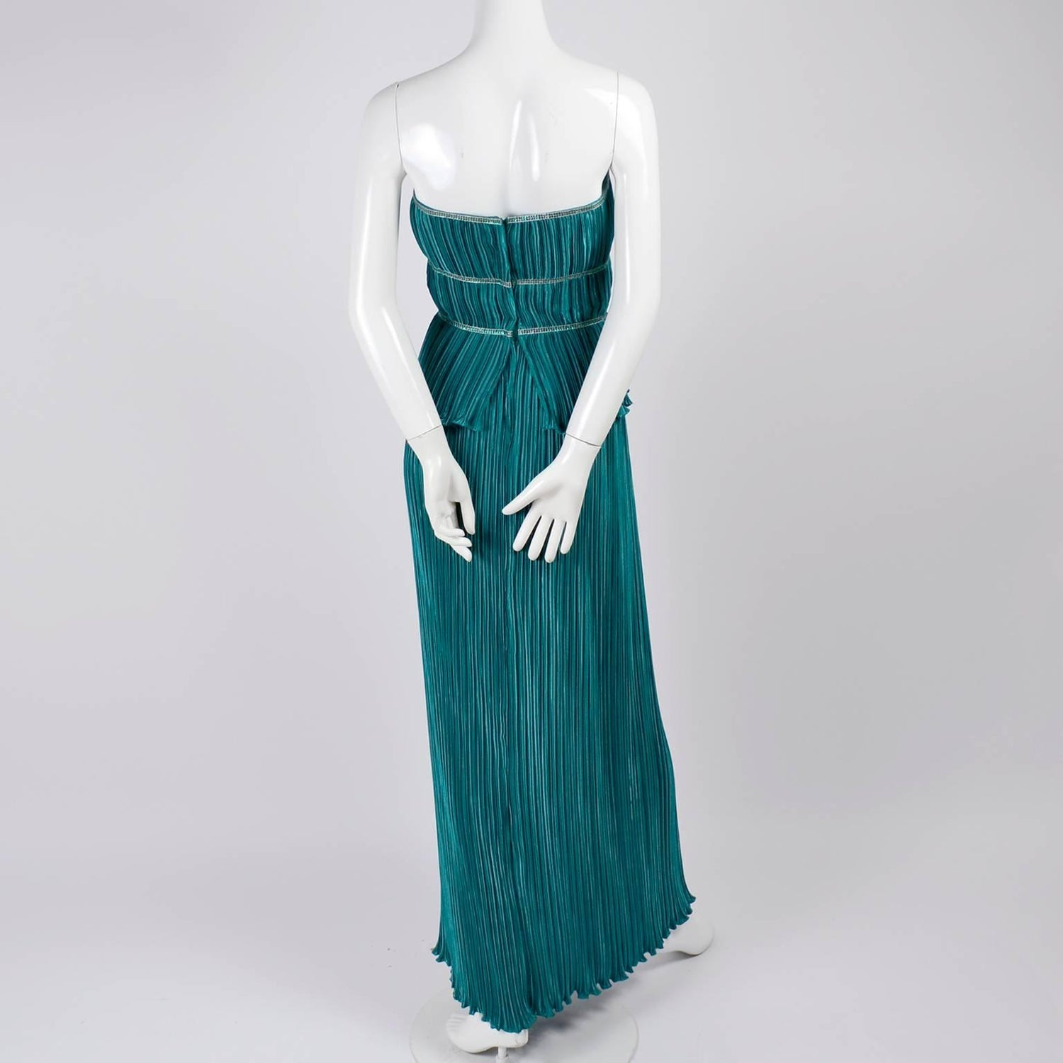 Mary Jane Denzer Dress Vintage Pleated Strapless Evening Gown with ...