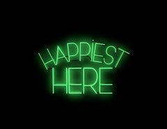 Happiest here - neon art work