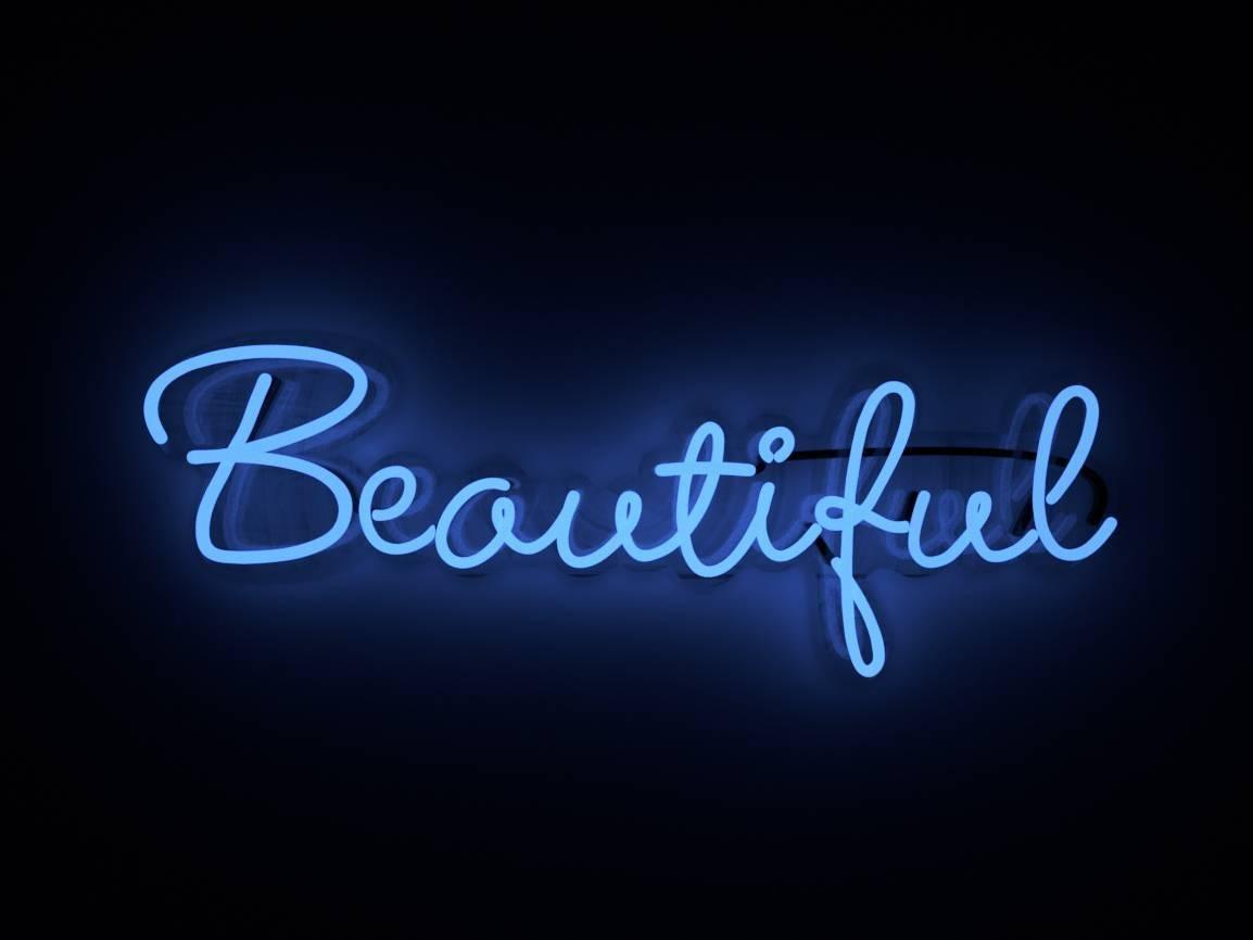 Beautiful - neon art work