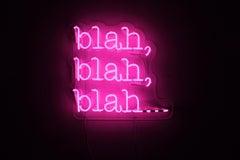 blah blah blah... - neon art work