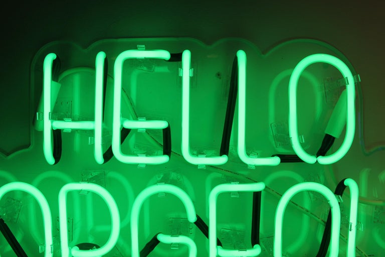 Hello gorgeous - neon art work For Sale 5