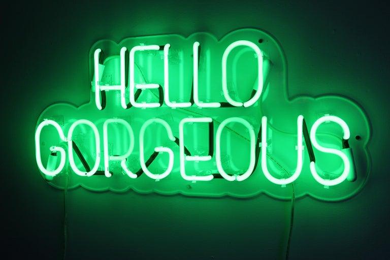 Hello gorgeous - neon art work For Sale 7