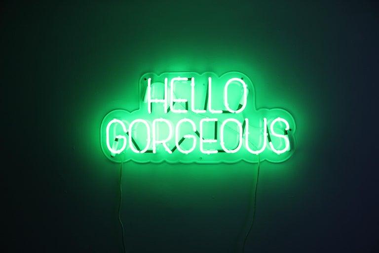 Hello gorgeous - neon art work For Sale 8