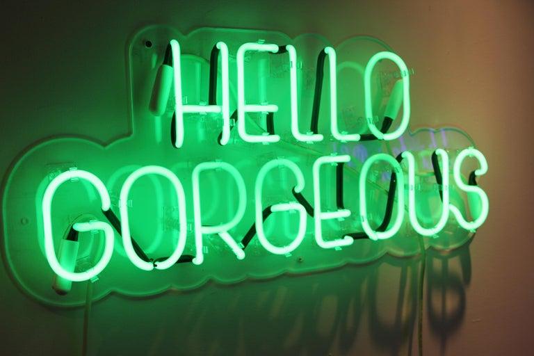 Hello gorgeous - neon art work For Sale 9