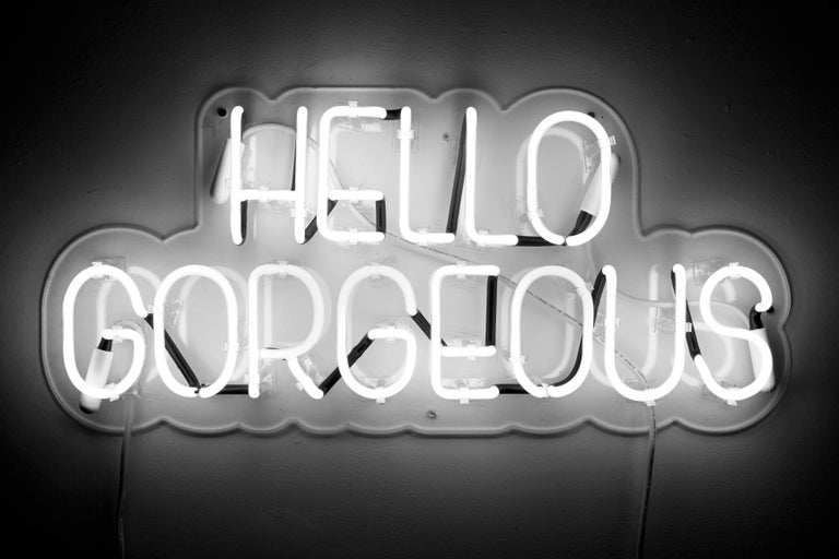 Hello gorgeous - neon art work For Sale 2