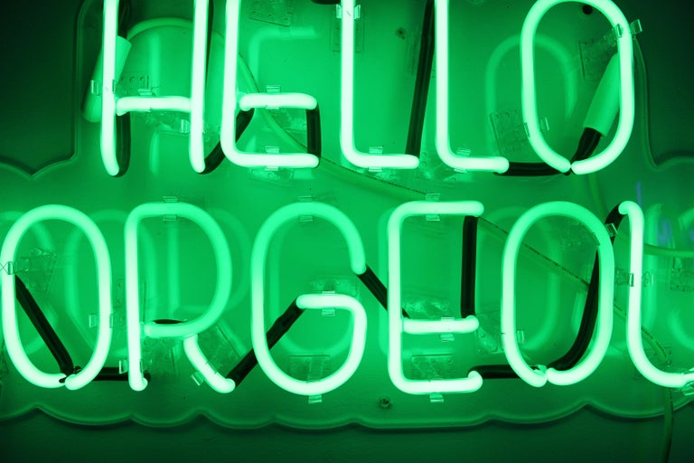 Hello gorgeous - neon art work For Sale 3