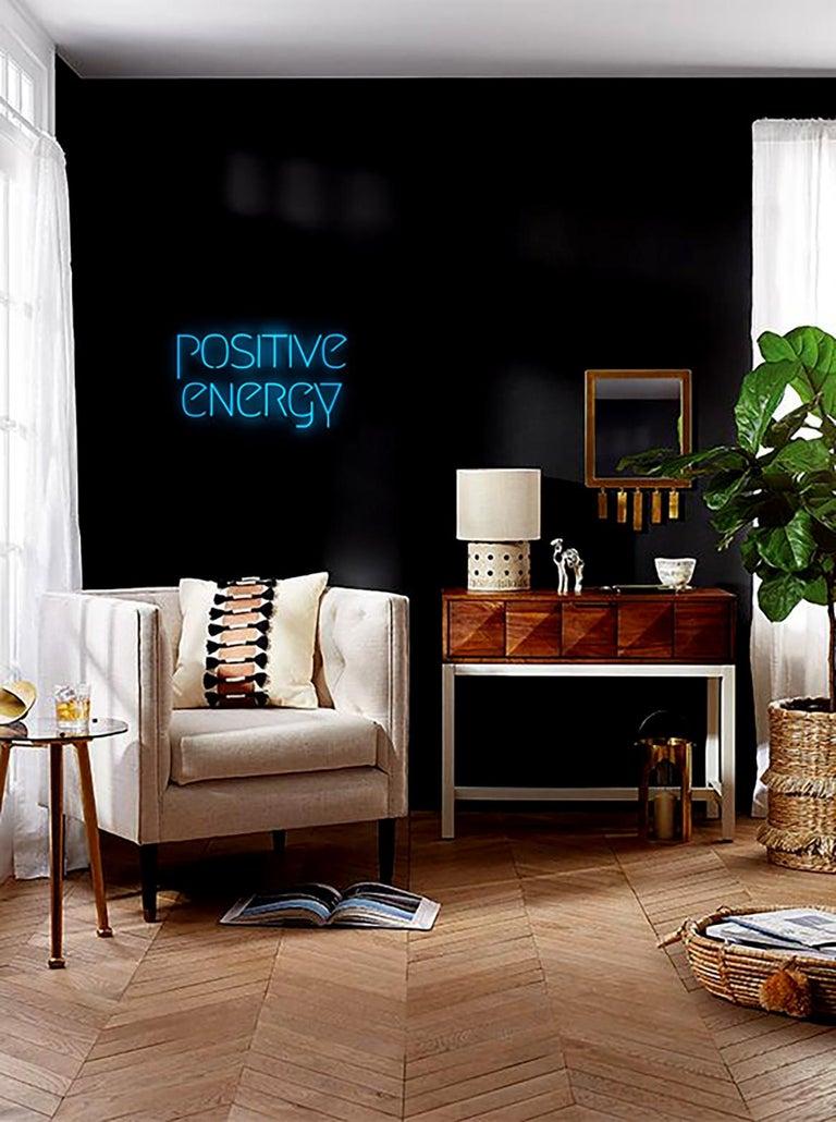 positive energy  - neon art work - Contemporary Art by Mary Jo McGonagle