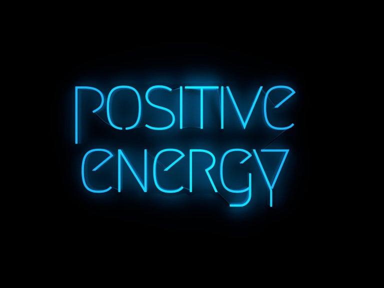 positive energy  - neon art work - Art by Mary Jo McGonagle