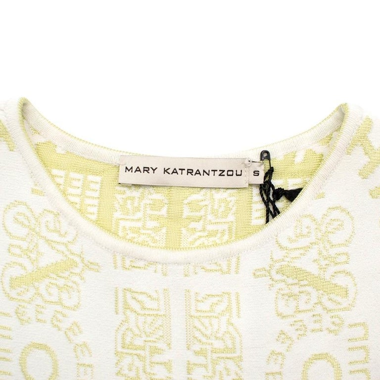 Women's Mary Katrantzou Alphabet Babel Dress In Pastel Green S For Sale