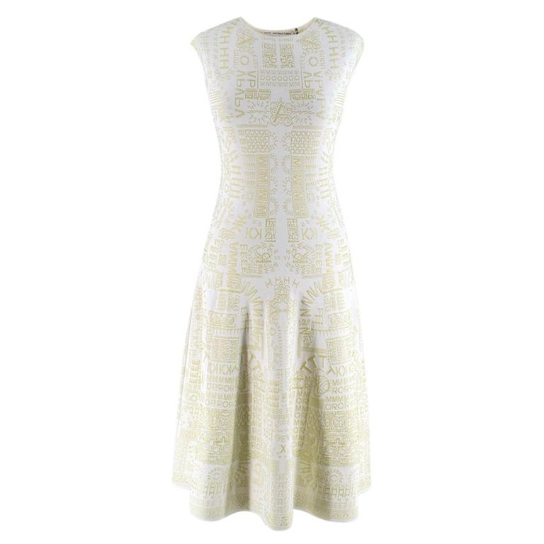 Mary Katrantzou Alphabet Babel Dress In Pastel Green S For Sale
