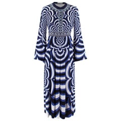 Mary Katrantzou Blue Printed Silk Dress US4