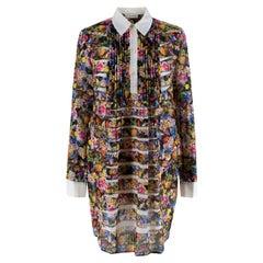 Mary Katrantzou Floral with White Collar Cotton Dress - Us size 10