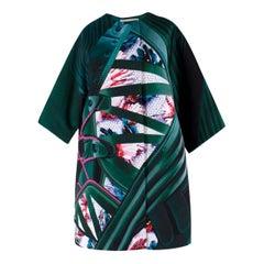 Mary Katrantzou Green Abstract-Patterned Silk-Blend Coat  8