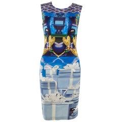 Mary Katrantzou Jewel and Dragonfly Printed Jersey Tank Dress S