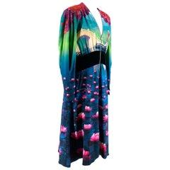 Mary Katrantzou Multi Colour Disney Lily Mulan Midi Dress L 14