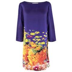 Mary Katrantzou Multi-coloured Fish Pattern Shift Dress - Size US 10