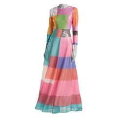 Mary Katrantzou Rosalba Sequinned Colour Block Maxi Dress L UK14