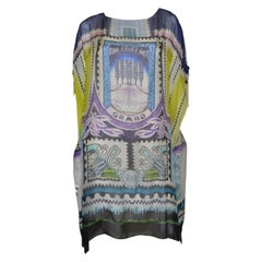 Mary Katrantzou Venezuela Print Chiffon Dress