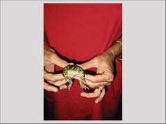 Gently Holding Frog