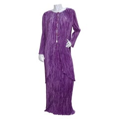 Mary McFadden 1980s Pleated Outfit