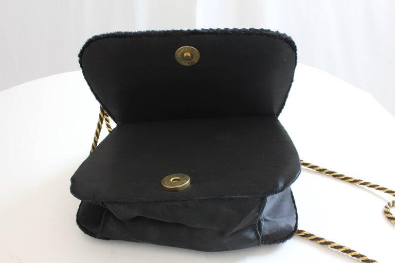 Mary McFadden Evening Bag Purse Embellished Black Velvet in Original Box 1980s  For Sale 8