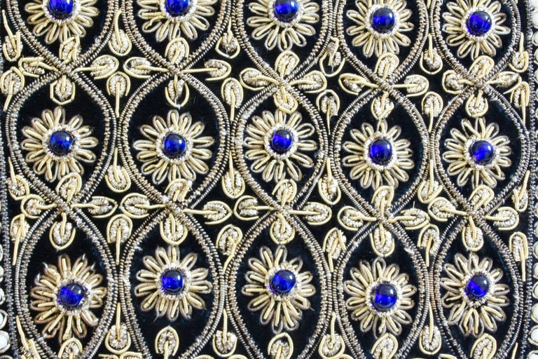 Mary McFadden Evening Bag Purse Embellished Black Velvet in Original Box 1980s  For Sale 4