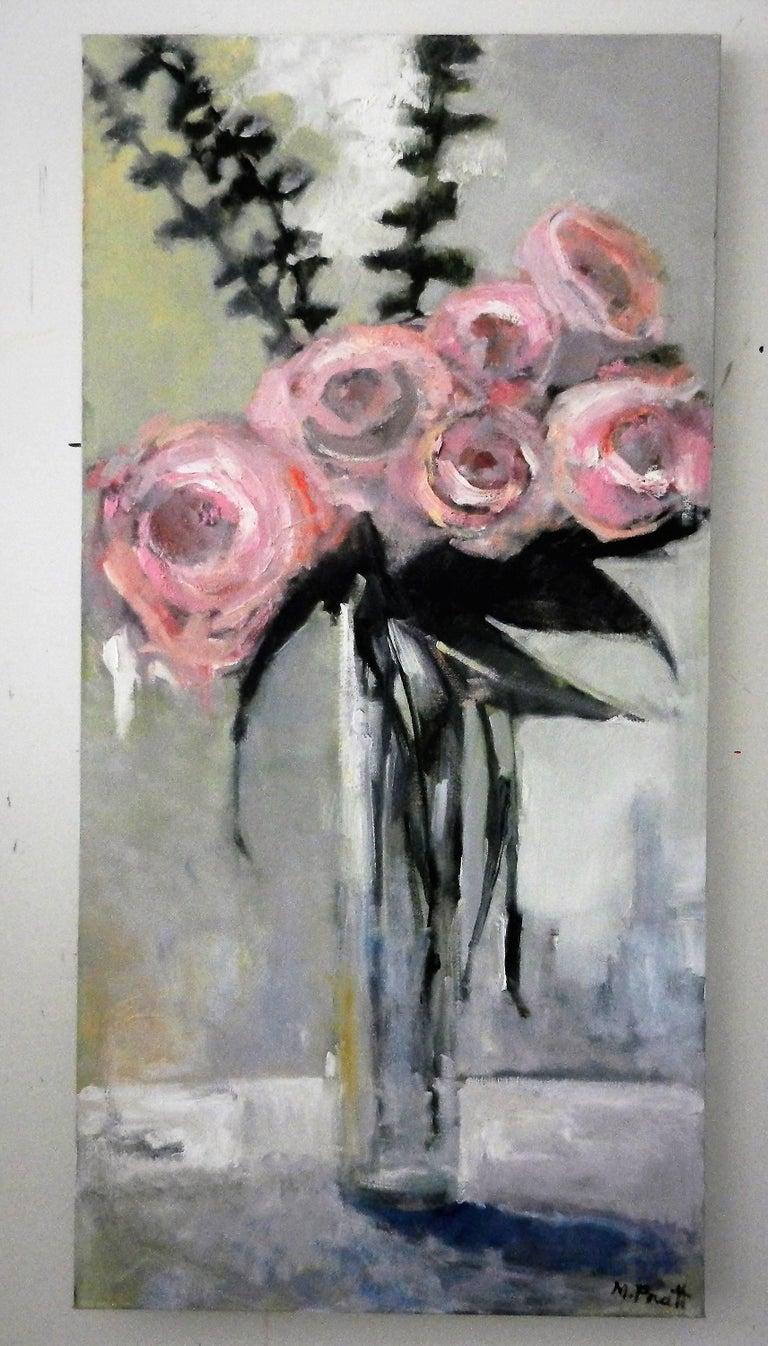 Tall Pink - Impressionist Painting by Mary Pratt
