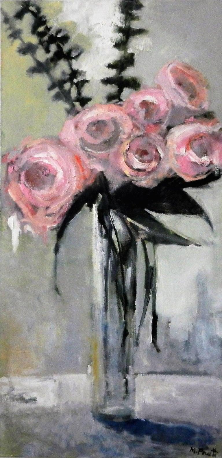 Mary Pratt Still-Life Painting - Tall Pink