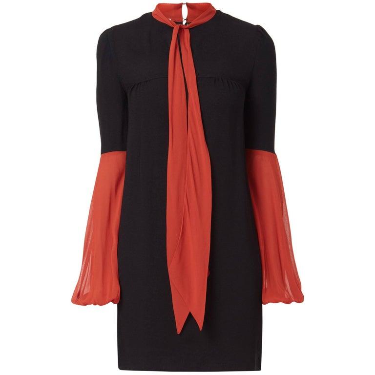 Mary Quant black & red chiffon dress, circa 1968