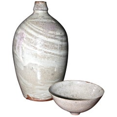 Mary Roehm Ceramic Bottle and Tea Bowl