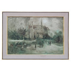 Impressionist Painting of Notre Dame Cathedral