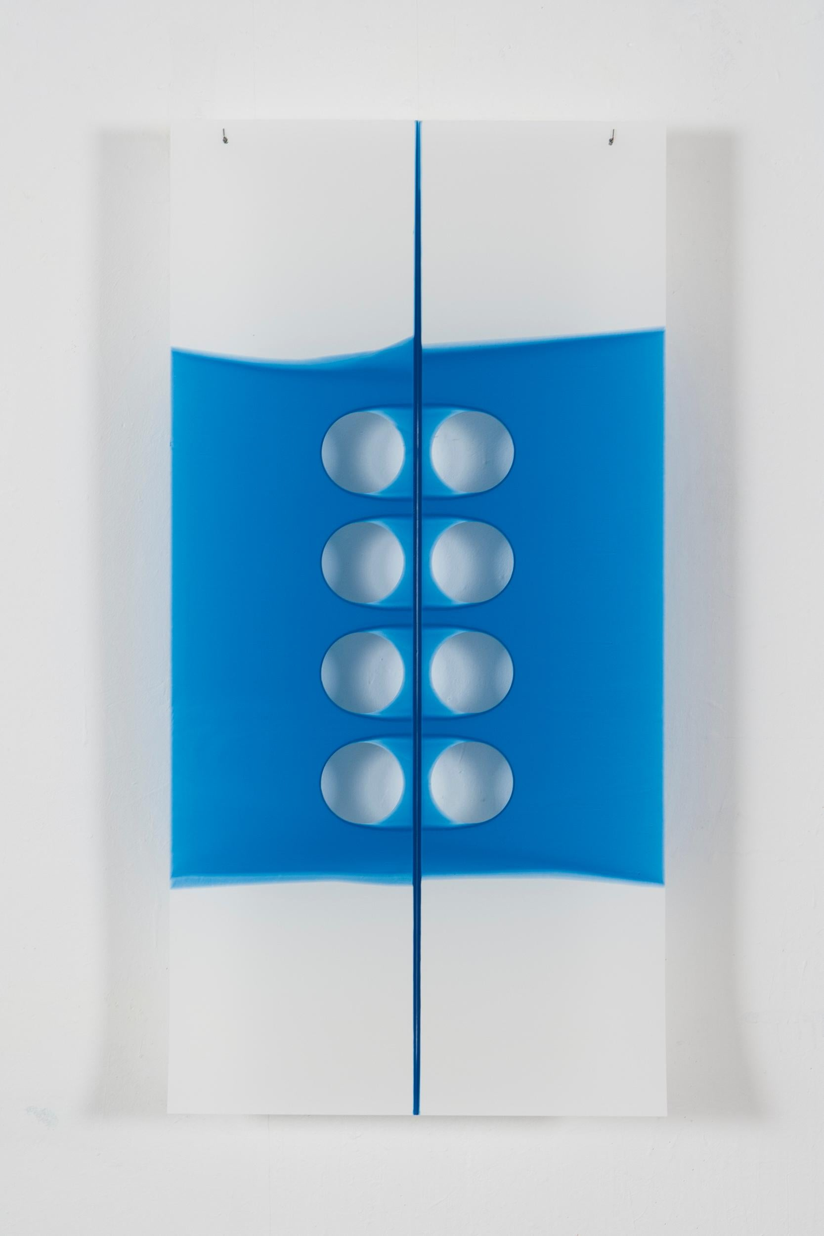 Mary Schiliro, Cat's Cradle 7, 2006, acylic on Mylar, 36 x 18 inches, Abstract