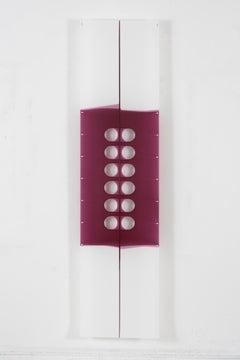 Mary Schiliro, Cat's Cradle 8, 2006, acylic on Mylar, 72 x 18 inches