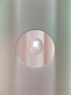 Mary Schiliro, Disembody, 2018, acrylic, mylar, plexiglas rod, 60 x 72 x 4 in