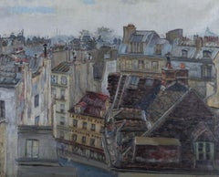 Mary Thorold - Mid 20th Century Oil, French Rooftops