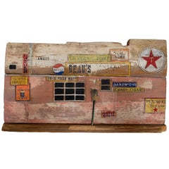 """Mary Tommy Thomas Wood Sculpture """"Beau's General Store"""""""