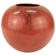 Mary Witkop New Mexico Pueblo Pottery Vessel in Pomegranate Red