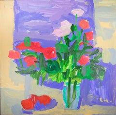 "Roses du Jardin de Maman ""Roses from Mom's Garden"" Acrylic by Maryam Alakbarli"