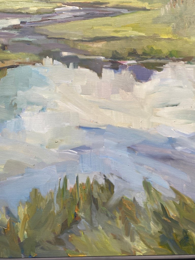 Changing Tides - Gray Landscape Painting by Maryann Lucas