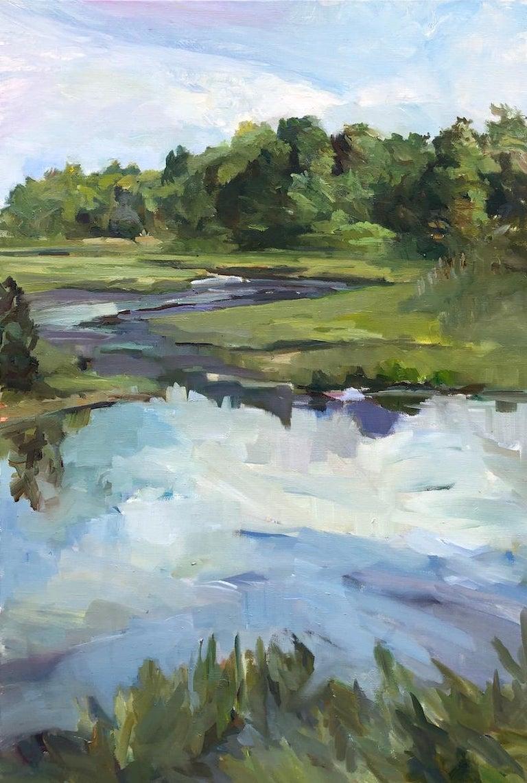 Maryann Lucas Landscape Painting - Changing Tides