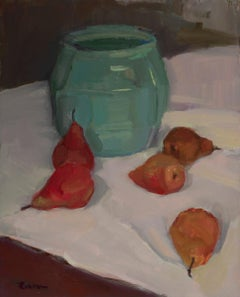Pears and Ceramic Pot