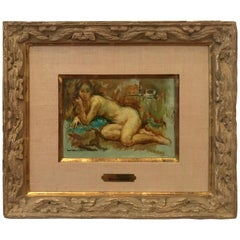 """Maryse Ducaire Nude Oil Painting """"Nu"""""""