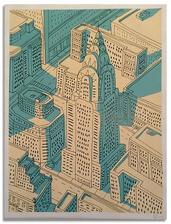 """""""NYC Chrysler Building""""- Acrylic & Ink on Paper"""
