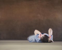 THE WALL - Atmospheric Modern Women Portrait,  Contemporary Figurative Painting