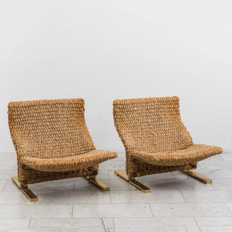 Marzio Cecchi low knitted lounge chairs, ca. 1970, offered by Todd Merrill 20th Century