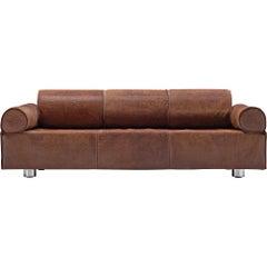 Marzio Cecchi Brown Buffalo Leather Sofa