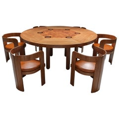 Marzio Cecchi Dining Set in Walnut and Burl