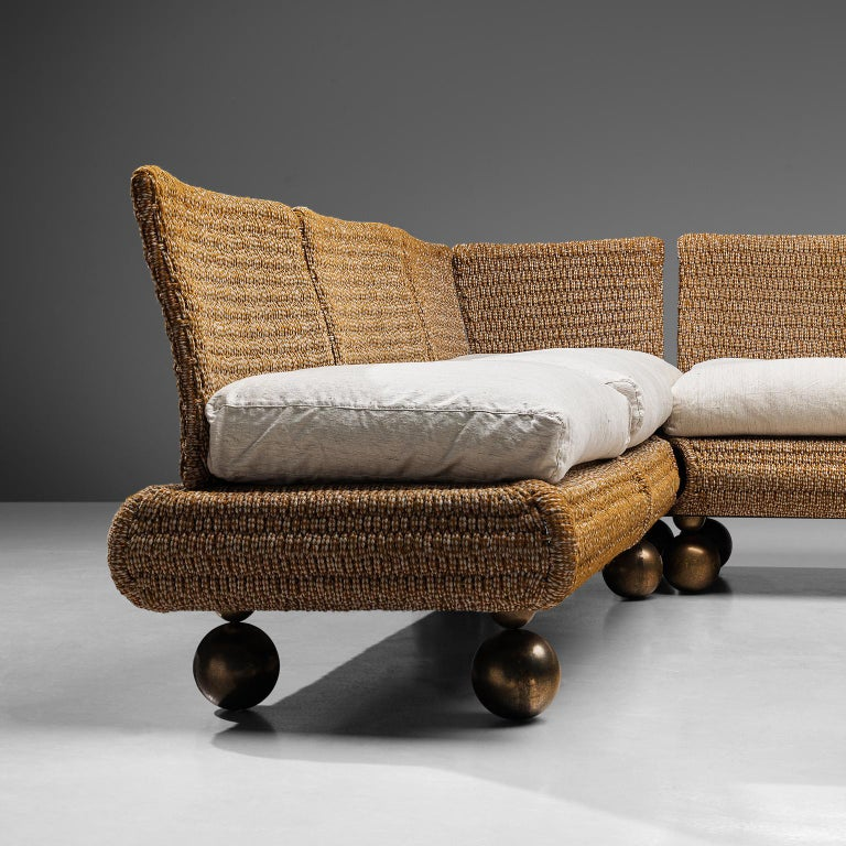 Mid-Century Modern Marzio Cecchi for Studio Most Sectional Sofa For Sale
