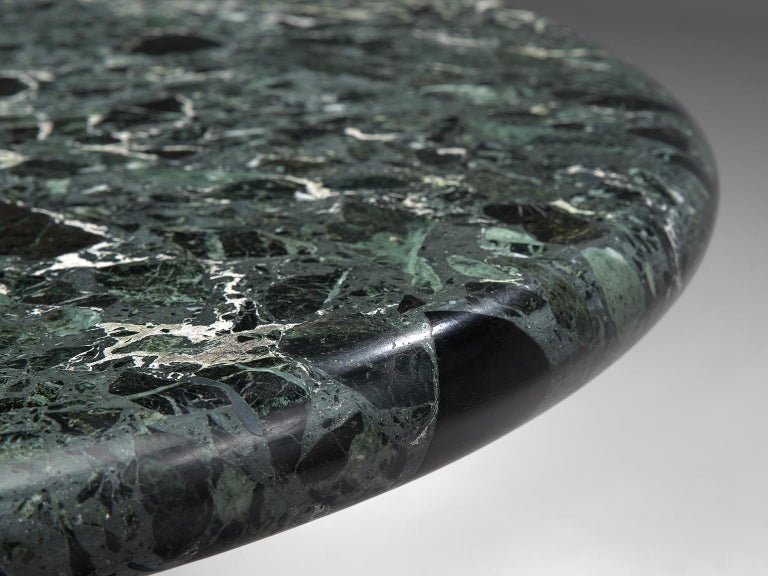 Marzio Cecchi Oval Green Marble Dining Table For Sale 2